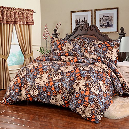 Simple&Opulence Polyester 3PCS Duvet Cover Set Colorful Printing Modern Design (King, - King Opulence Comforter