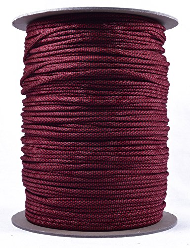 Bored Paracord - 1, 10, 25, 50, 100 Hanks & 250, 1000 Spools of Parachute 550 Cord Type III 7 Strand Paracord Well Over 300 Colors - Blood Diamonds - 1000 Foot Spool