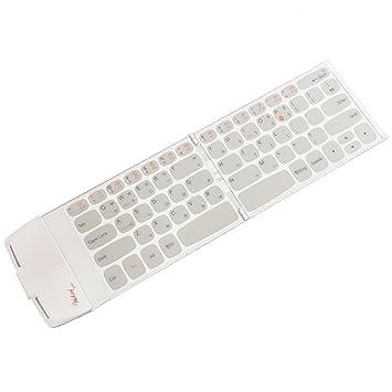 wekey bolsillo Bluetooth 4.0 inalámbrico plegable plegable teclado blanco – el del mundo más compacto teclado