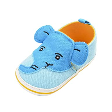 2b7ce387e6a9f Amazon.com: Infant Baby Boys Girls First Walking Shoes 6-18 Months ...