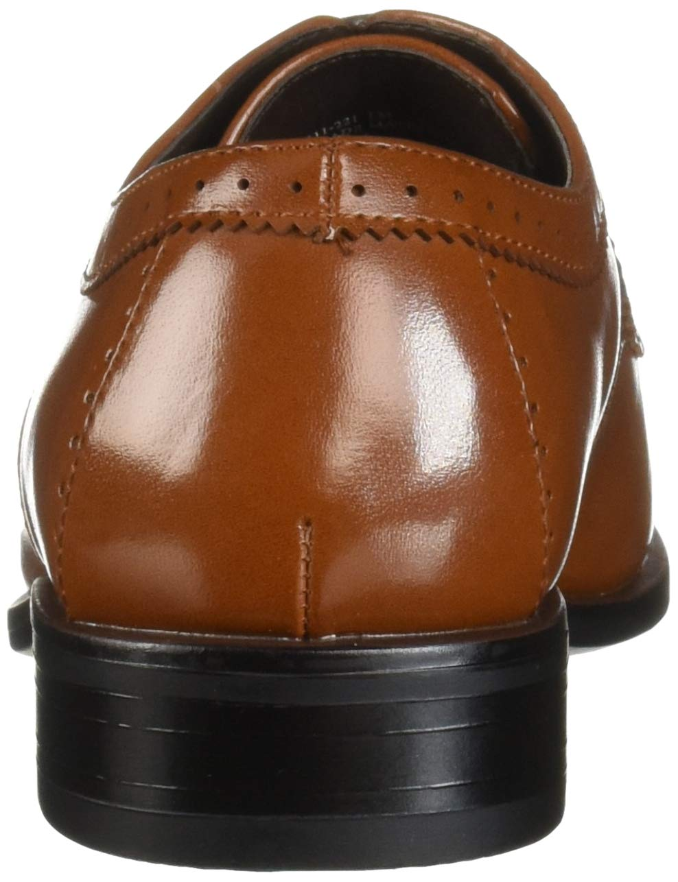 STACY ADAMS Unisex Sanborn Perfed Cap Toe Lace-Up Oxford, Cognac 5 M US Big Kid by STACY ADAMS (Image #2)