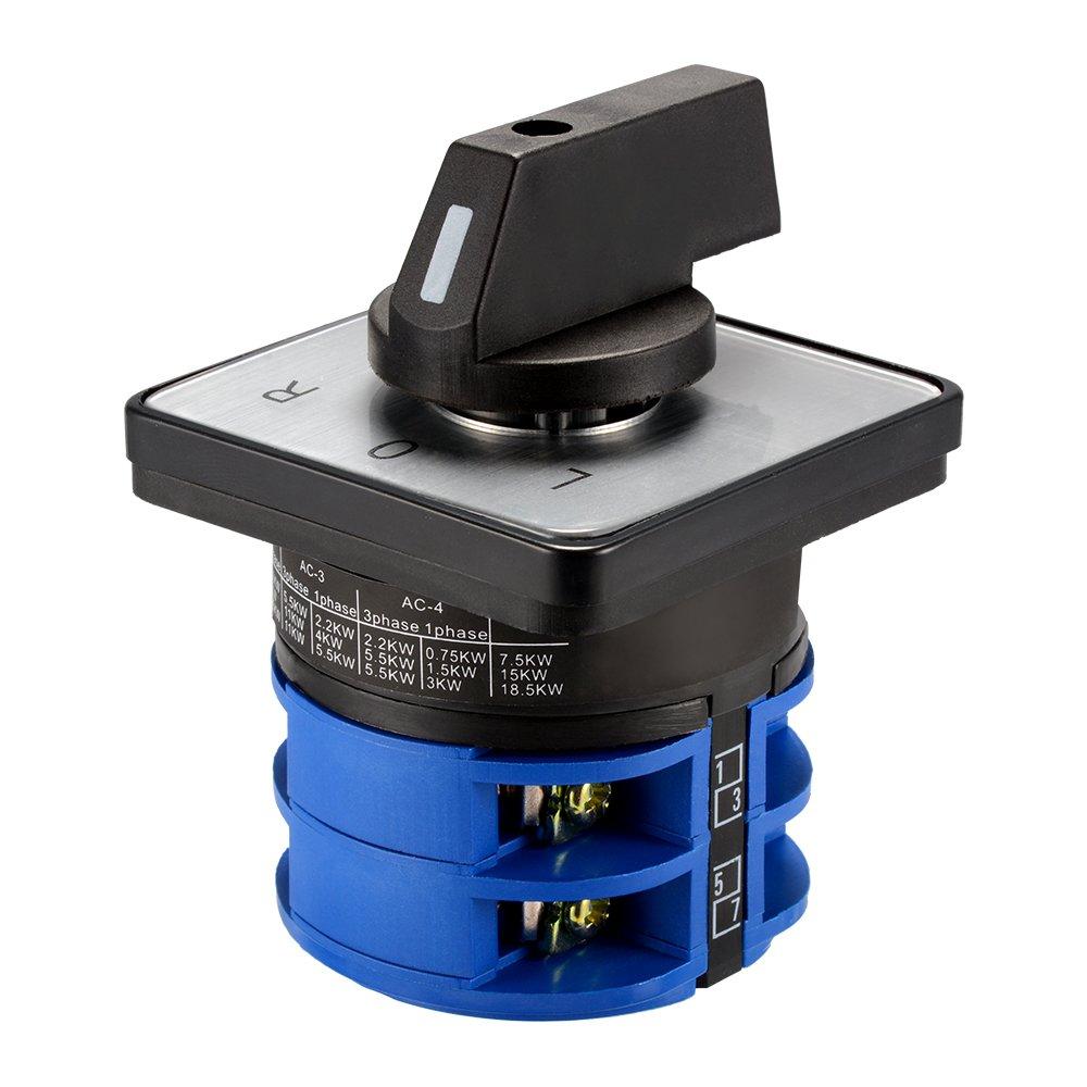 Kreema AC 690V LW26 32A 3 Posizioni Interruttore di commutazione universale LOR Selettore rotativo Pannello di controllo a 8 terminali per camme
