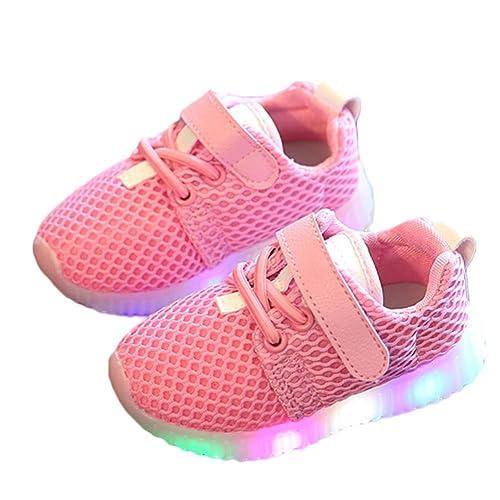FAVOLOOK LED Zapatos Niños, Bebé Niños Niñas Luz Intermitente Hasta La Escuela Casual Running Entrenador Zapatillas Primera Caminantes: Amazon.es: Zapatos y ...