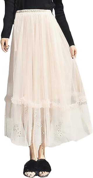 Faldas Largas Mujer Moda Fiesta Elegantes Cintura Alta con ...