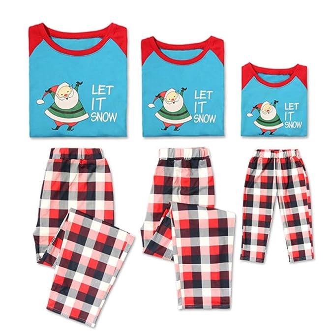 Amazon.com: PatPat Juego de pajamas familiares a juego ...