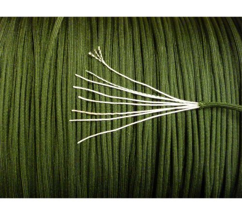 5col 550 Type 3 Nylon Parachute Paracord - MIL-C-5040H & PIA-C-5040 (Camo Green, 250 Feet) by 5col Survival Supply (Image #1)