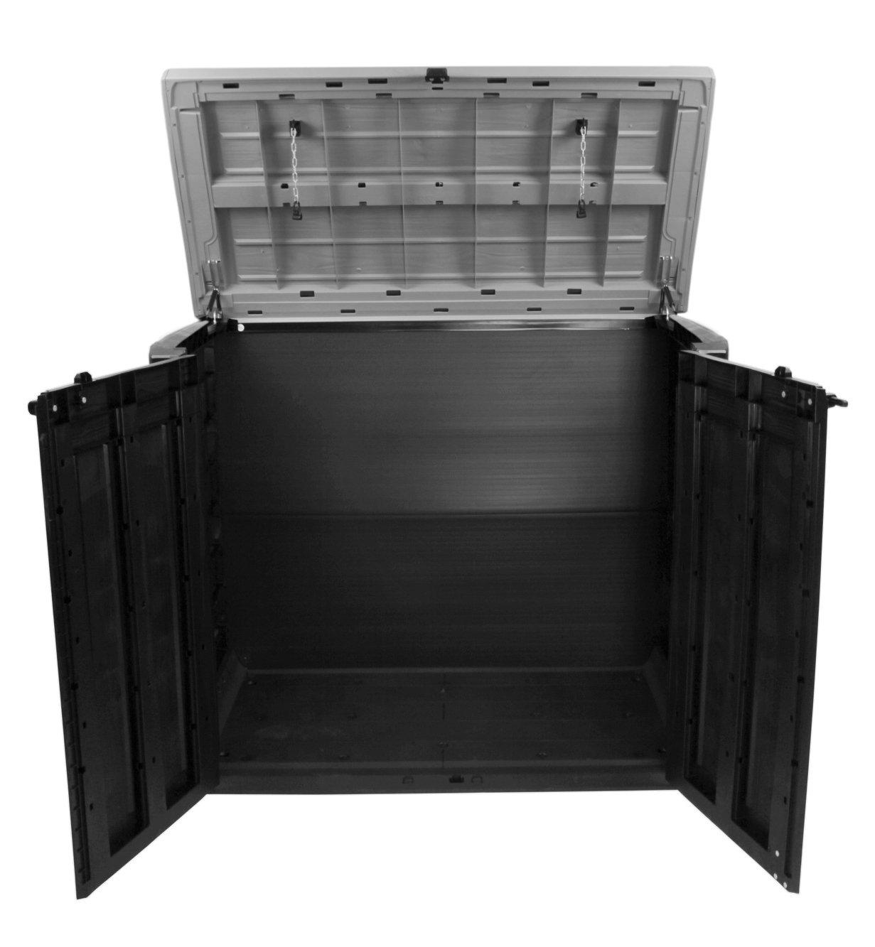 Ondis24 Keter Store it out MAX Jardín Caja schöner-wohnen24 Dispositivo Caja Caseta para contenedores 2 x 240 litros: Amazon.es: Jardín