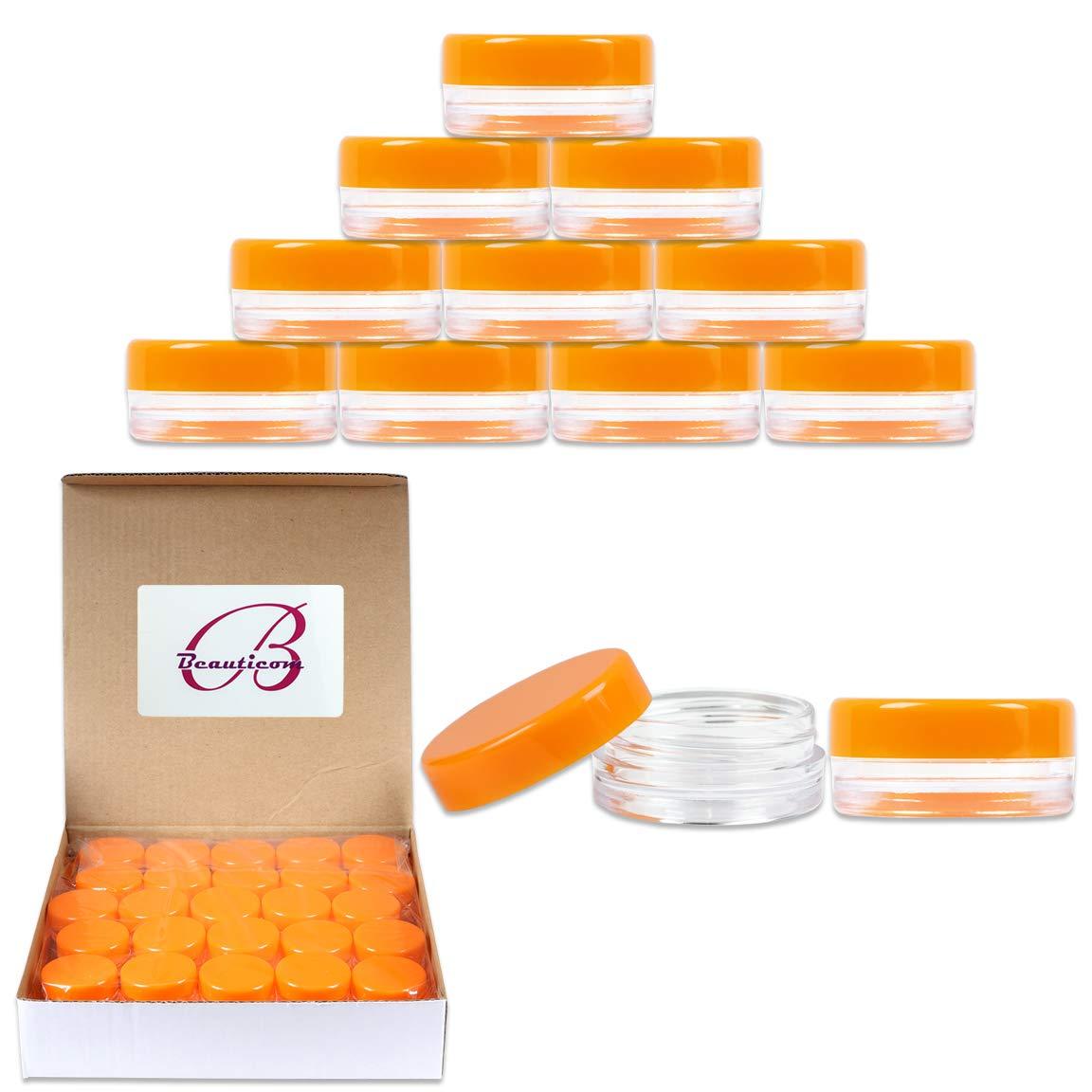 Amazon.com: 50 tarros de plástico pequeño de 0.11 oz/3 ml de ...