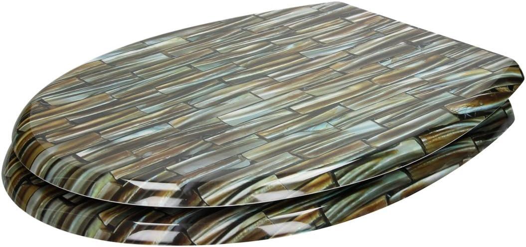 ECD Germany Asiento de Inodoro Colores Premium Duroplast Tapa de Inodoro con Cierre Suave Desmontable /& Capa Antibacterial Incluye Material de Montaje