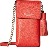 Kate Spade New York Women's North/South Crossbody Phone Case for iPhone 6, 6s, 7, 8 Red Carpet One Size