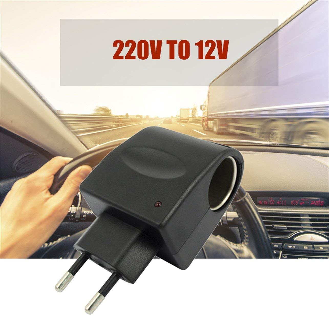WOSOSYEYO 220V CA al Adaptador de Cigarrillos del convertidor DC 12V Automotive alimentaci/ón de energ/ía del alumbrador del Enchufe del z/ócalo Accesorios del Coche autom/ático de Pieza de Recambio
