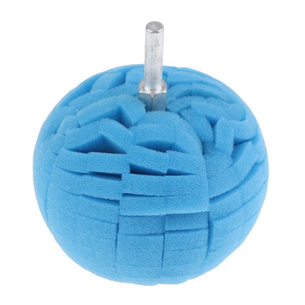 MagiDeal Car Sponge Ball Waxing and Polishing Pad for Hub Polishing Wheel Polishing Plate Circular Sponge 8x10cm Orange