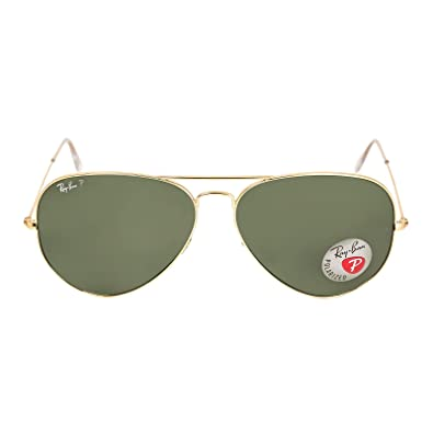 ray ban rb3025 sunglasses  new ray ban rb3025 001/58 aviator arista/crystal green lens 62mm polarized sunglasses