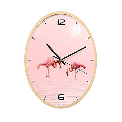 reloj de pared Moderno del patrón del Flamenco Arte de Madera Rosado Sala de Estar del