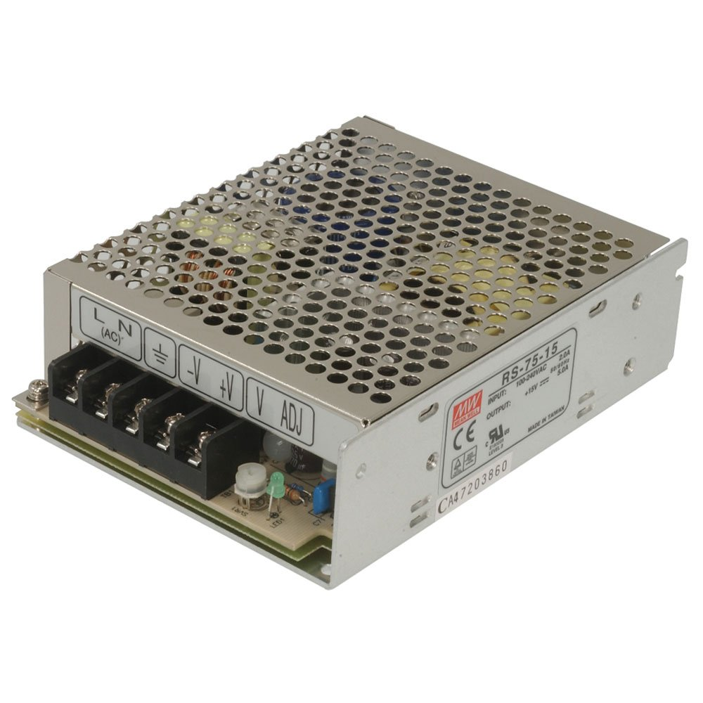 RS-100-15 Enclosed Switching AC-to-DC Power Supply Single Output 15V 0-7A 105W