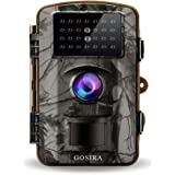 "Gosira Trail Game Cameras 1080P HD Night Vision Latest 940nm No Flash Infrared LEDs 0.4S Trigger 2.4"" Viewer 12MP Waterproof Wildlife Hunting Animal Deer Motion Sensor Activated Outdoor Trap Cam"