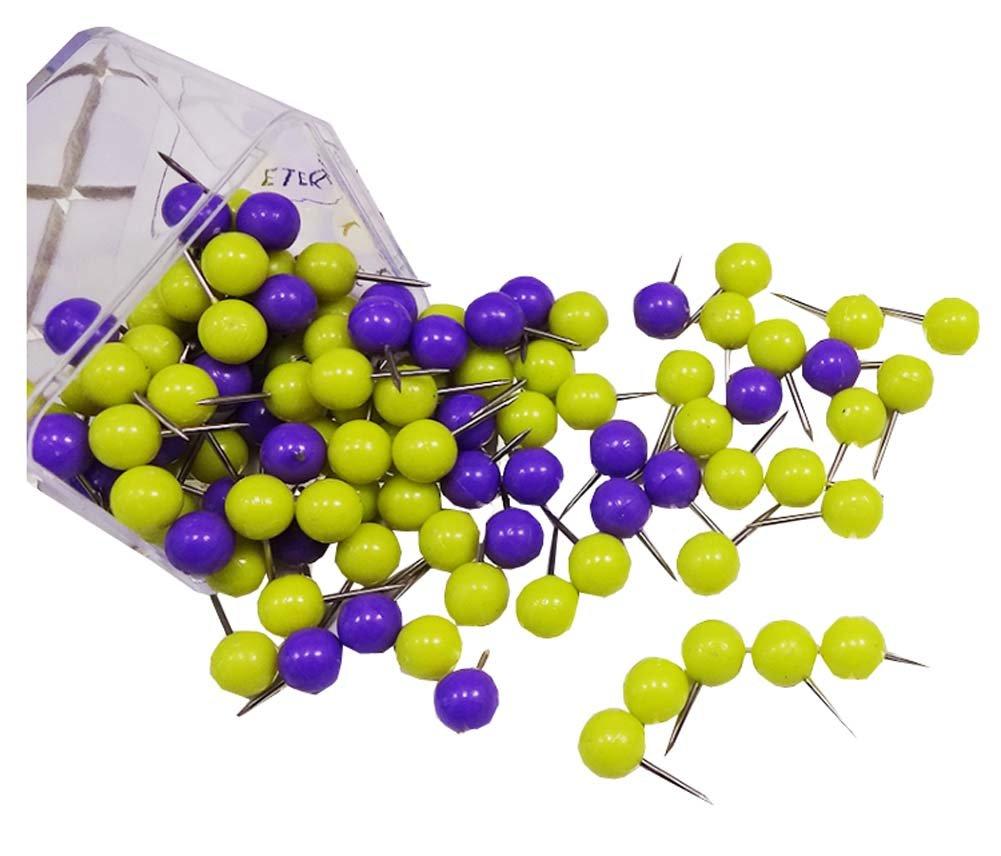 120 PCS Office Item/Purple+Yellow Series Calendar/Photos Pushpins Dragon Sonic