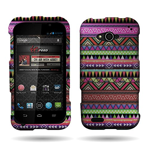 CoverON Slim Hard Case for ZTE Reef N810 with Cover Removal Tool - (Tribal)
