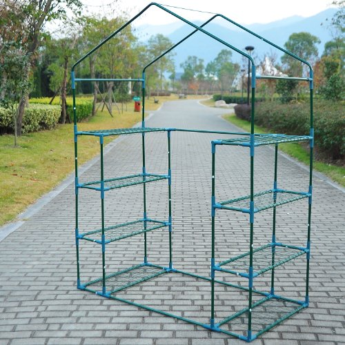 61aowSPeUvL - Outsunny 6.5' x 4.67' x 2.5' Outdoor Compact Walk-in Greenhouse