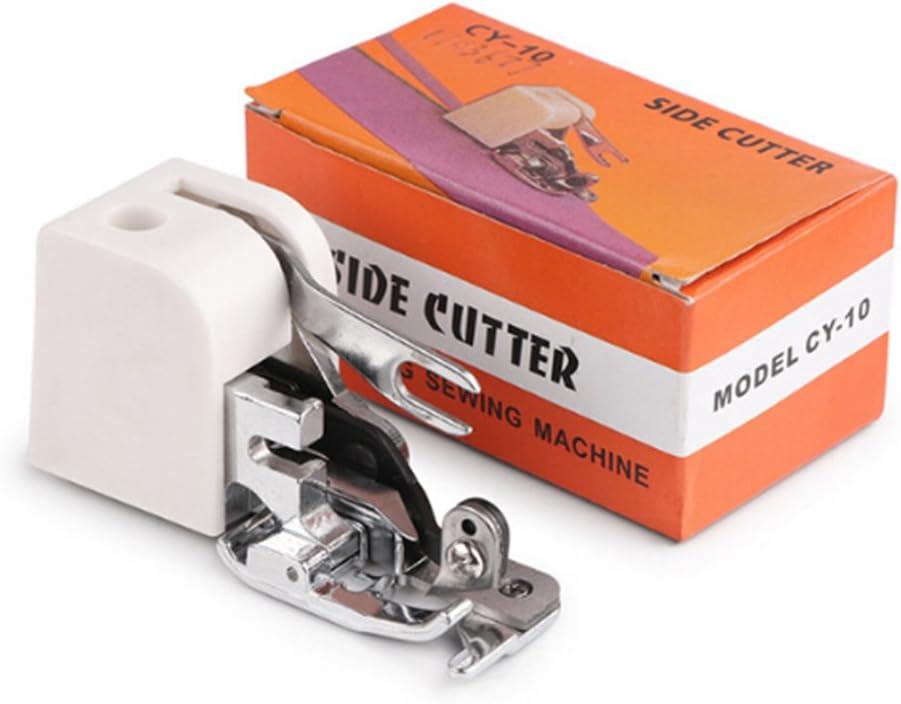 BESTOMZ Prensatelas de Corte Lateral para máquina de Coser Singer Brother Babylock Janome y Kenmore (Blanco): Amazon.es: Hogar