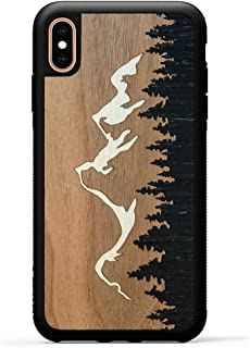 product image for Carved - iPhone Xs Max - Luxury Protective Traveler Case - Unique Real Wooden Phone Cover - Rubber Bumper - Grand Teton Inlay