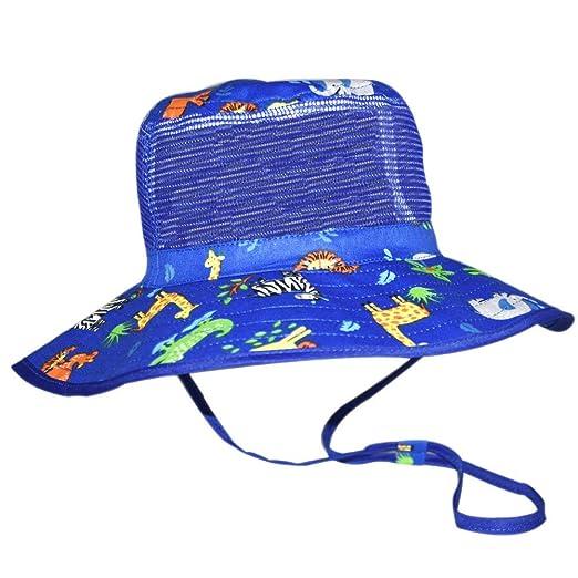 5b73878fb Baby Sun Hat Boy -Toddler Summer UPF 50+ Protection Wide Strap Bucket  Adjustable Kids Beach Swim Hat 18.8