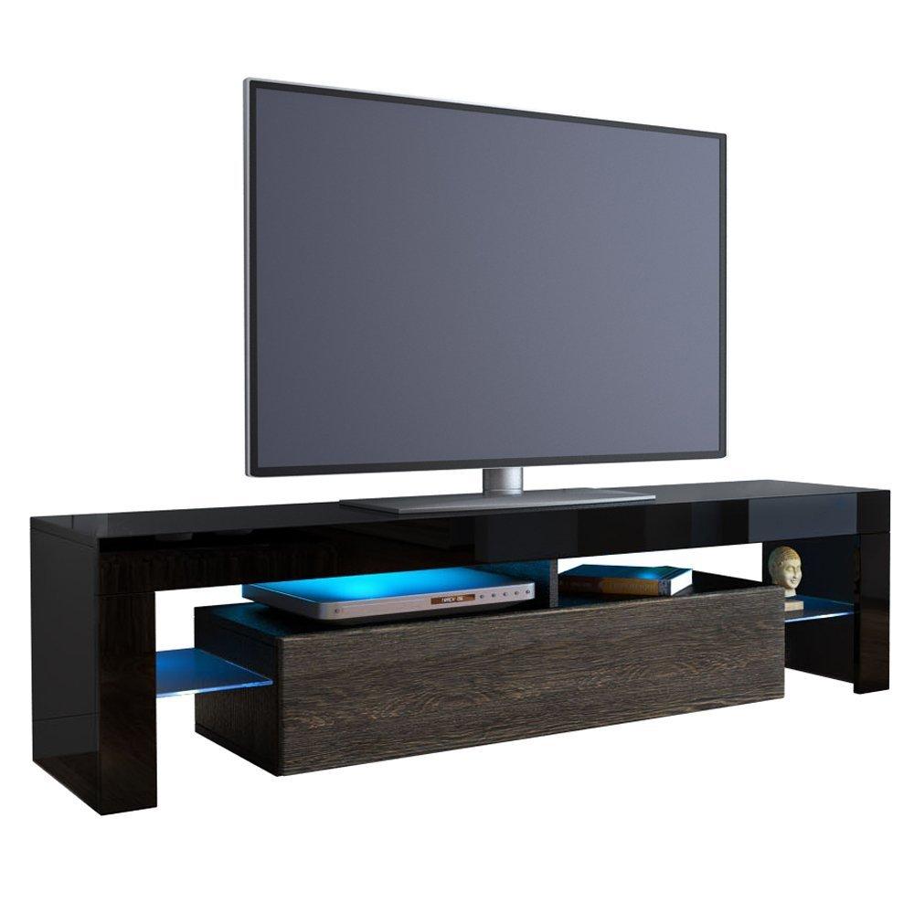 Kofkever cesare porta tv nero/wengè mobile portatv soggiorno ...