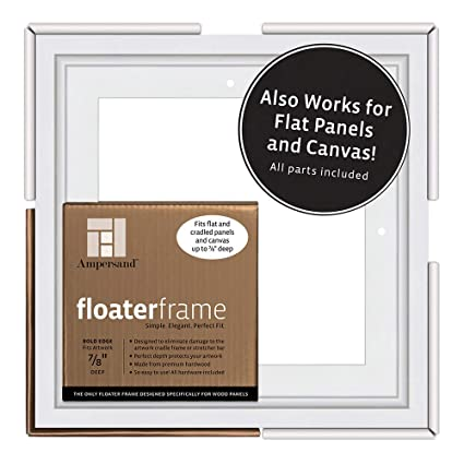 Any Size Tray Floater Picture Frame for Stretched Canvas or Canvas raised board