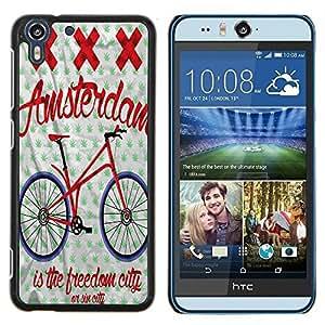 Dragon Case - FOR HTC Desire EYE M910x - is the freedom city - Caja protectora de pl??stico duro de la cubierta Dise?¡Ào Slim Fit