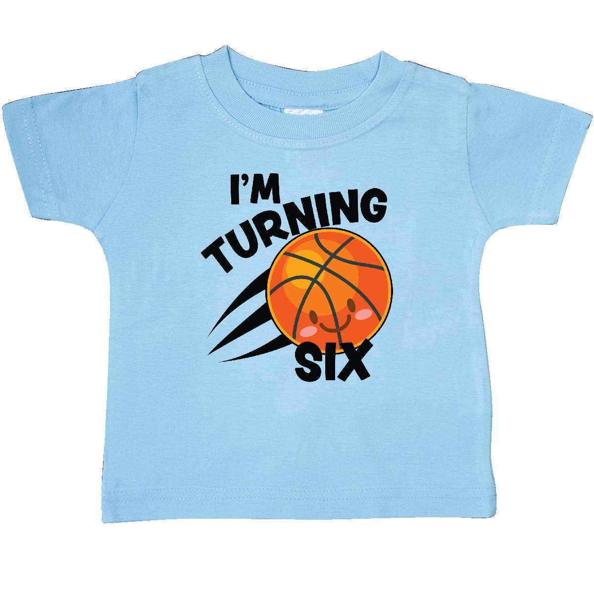 inktastic Im Turning 6 with Basketball Baby T-Shirt