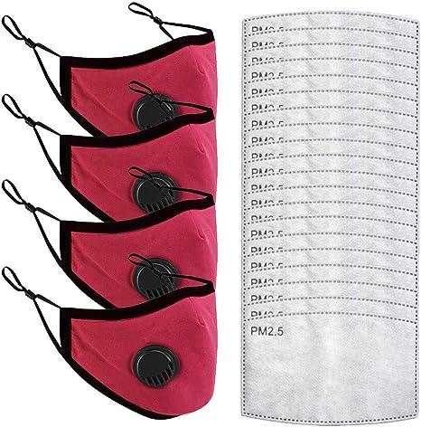 Image ofLazzgirl Reutilizable Carbón Activado Filtro para niños de tela Antipolvo Antivaho Actividades al aire libre KN-ZA-95 Pack 4 unidades + 20 unidades Almohadill