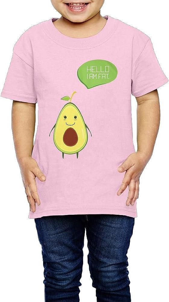Yishuo Children Hello I Am Fat Leisure Hiking T-Shirts Short Sleeve Pink 3 Toddler