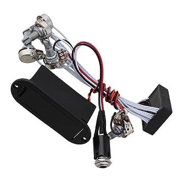 yibuy schwarz eq-b3t 1 V3t Bass Pickup Vorverstärker Circuit ...