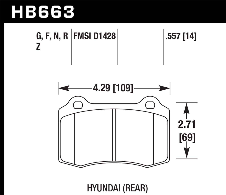 Hawk Performance HB568F.666 HPS Performance Ceramic Brake Pad