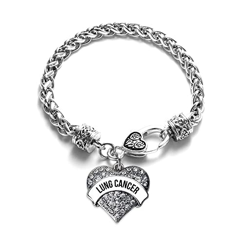 aa297c56c Amazon.com: Inspired Silver White and Black Lung Cancer Awareness ...