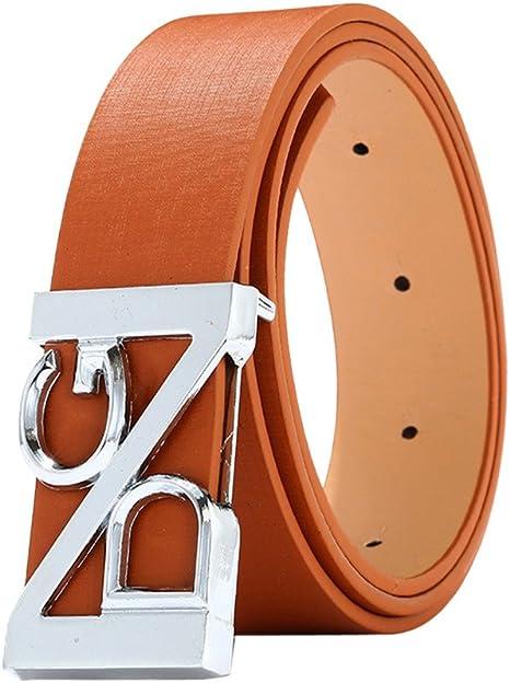 Ledergürtel Wendegürtel in Orange mit Gürtelschnalle 40mm Schließe H Gürtel NEU