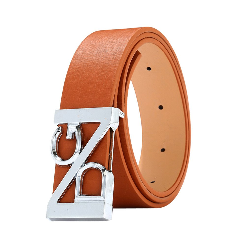 Zulmaliu Mens Ratchet Belt,Cool Hollow Waist Belt Thin Slender Leather Dress Belt Girdle