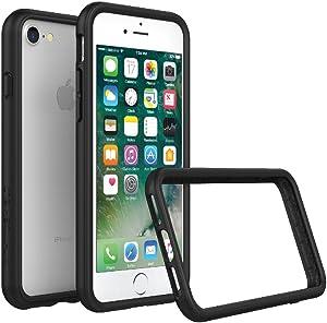 RhinoShield Ultra Protective Bumper Case [iPhone SE2 / SE (2020) / 8/7]   CrashGuard - Military Grade Drop Protection Against Full Impact, Slim, Scratch Resistant - Black
