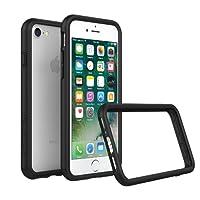 RhinoShield Coque pour iPhone 8 / iPhone 7 [Bumper CrashGuard] Housse Fine avec Technologie Absorption des Chocs - Compatible Recharge Induction [Résiste aux Chutes de Plus DE 3,5 mètres] - Noir