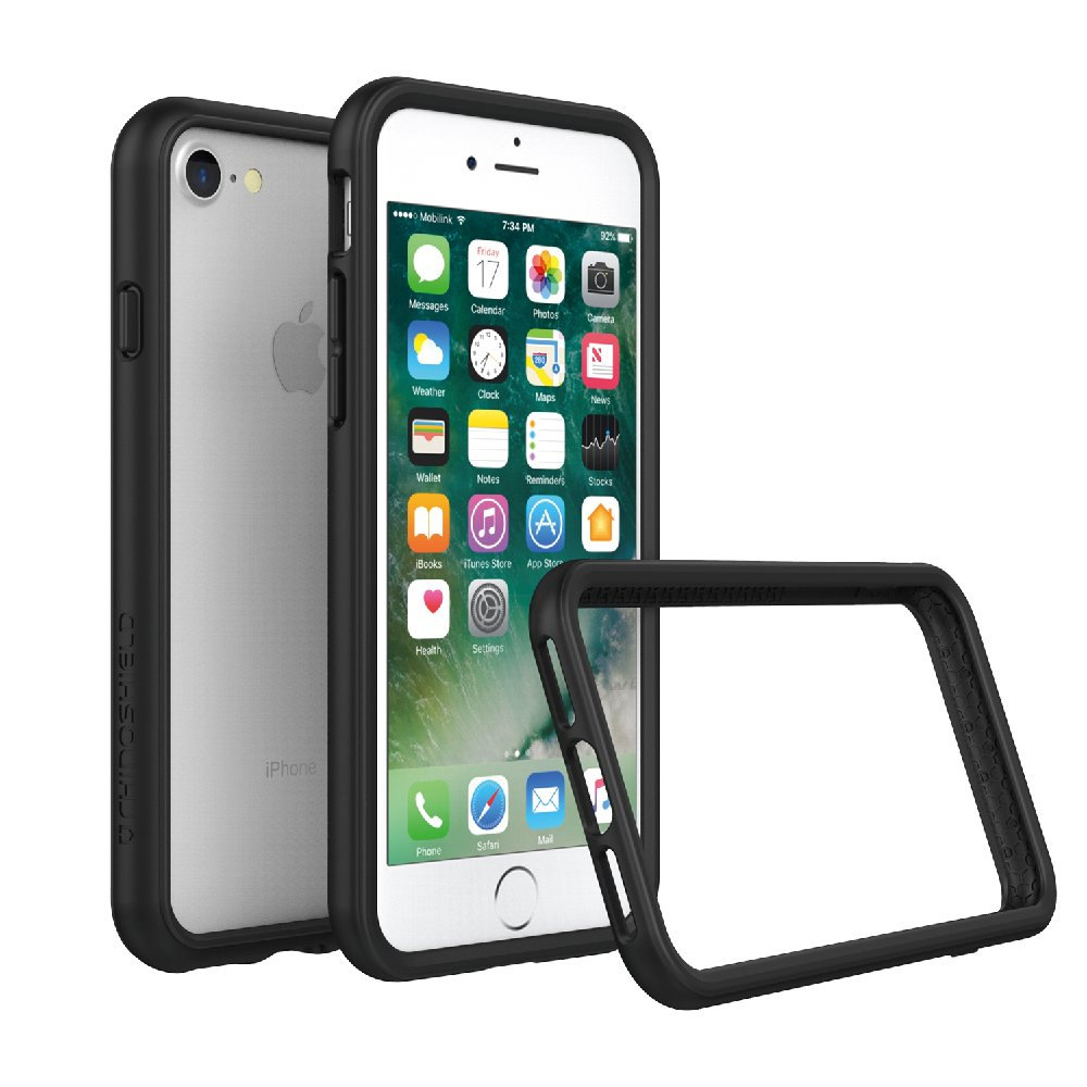 RhinoShield Ultra Protective Bumper Case [iPhone SE2 / SE (2020) / 8/7] | CrashGuard - Military Grade Drop Protection Against Full Impact, Slim, Scratch Resistant - Black