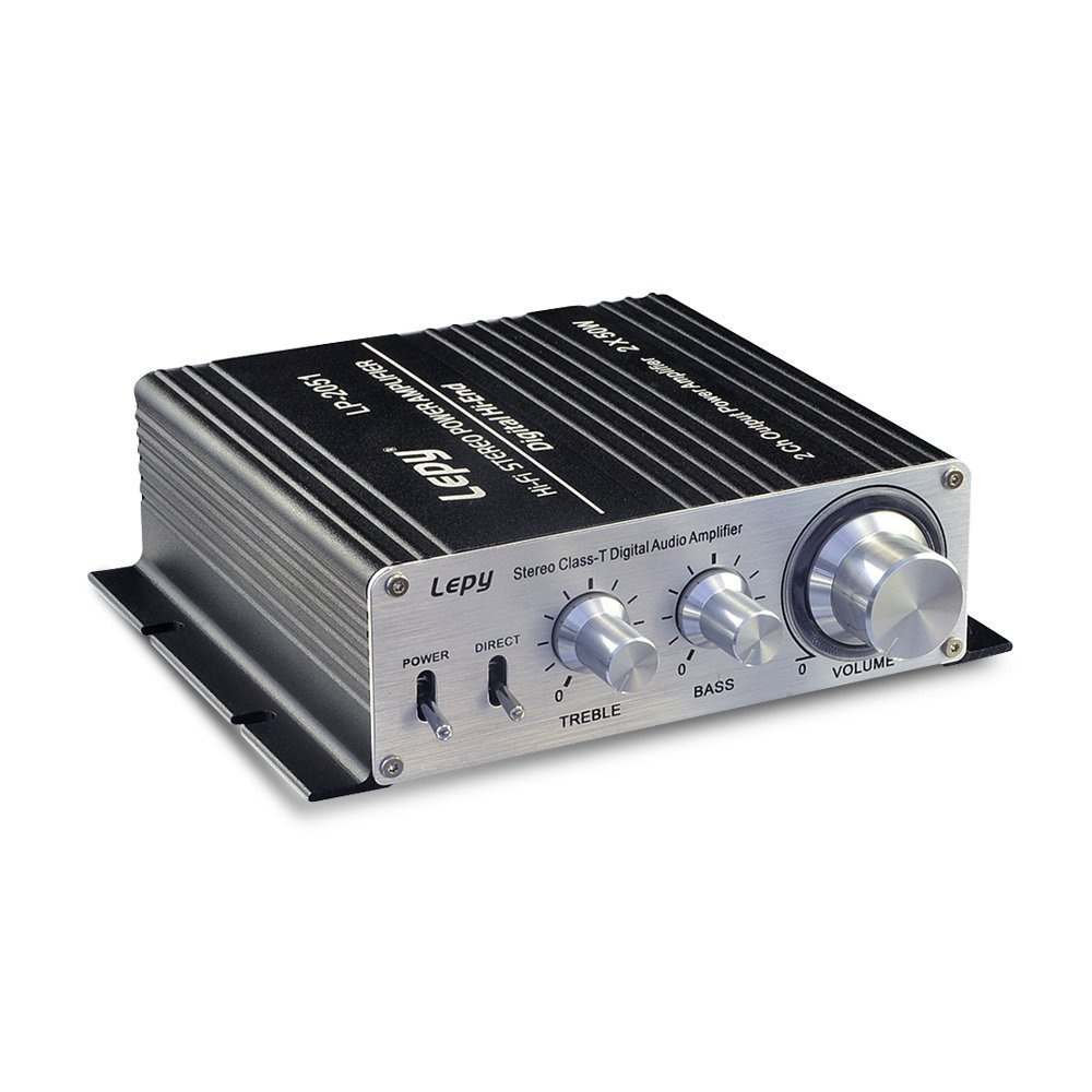 Lepy LP-2051 Hi-Fi with 50W x 2 RMS, Mini Stereo Class-T Digital Home Audio Amplifier Black