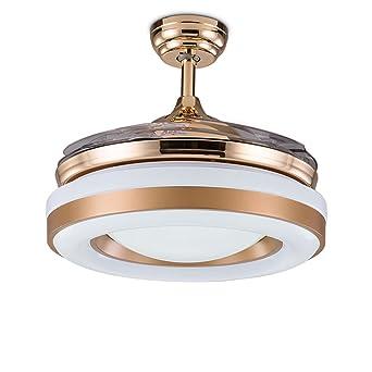 Elegant LED Unsichtbare Deckenventilator Kronleuchter, 36 Zoll Fernbedienung  Deckenventilatoren Mit Beleuchtung Einfache Moderne Für Schlafzimmer  Wohnzimmer