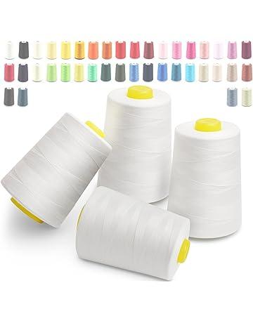 Hilos de coser de poliéster Cubewit 4 PCS hilo de coser para la máquina de coser