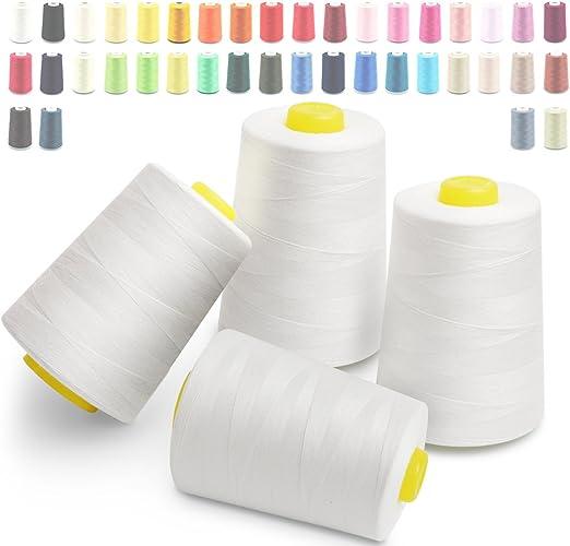 Hilos de coser de poliéster Cubewit 4 PCS hilo de coser para la ...