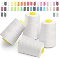 Overlock Fil à coudre 28000 yard 40/2 (120) 100% polyester Cubewit Fils à coudre Matériaux d'artisanat 4 noeuds, 7000 yard (6400 mètres)