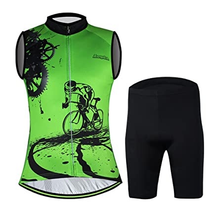a245688a1 Aogda Sleeveless Bicycle Jerseys Men Bike Shirts Team Vest Cycling Jerseys  (A Suit