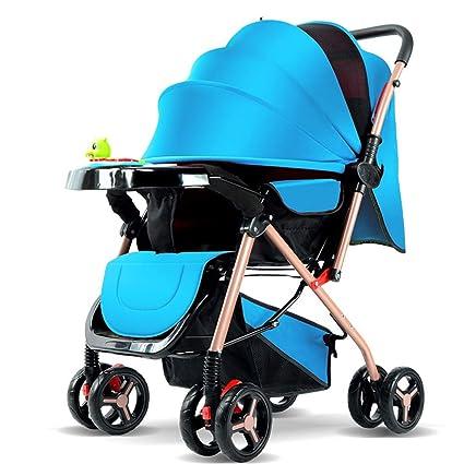 L&L Sillas de Paseo Trolley para bebé Sentado de Dos vías Sentado Ultraligero Plegable Portátil Paraguas