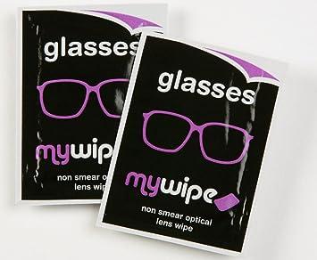 MYWIPE óptico lente y 3d gafas espectáculo gamuza de limpieza toallitas húmedas x 50 sachets
