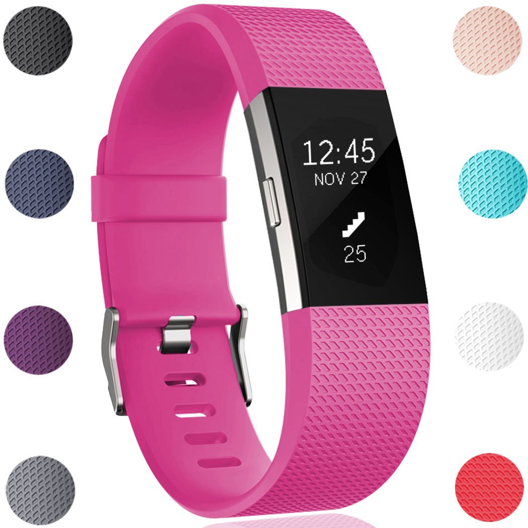 Geak Fitbit Charge 2バンド、Special Edition交換用バンドfor Fitbit charge2 Large Small 12異なる色 B01N0WD484 Large|#01 Rose #01 Rose Large