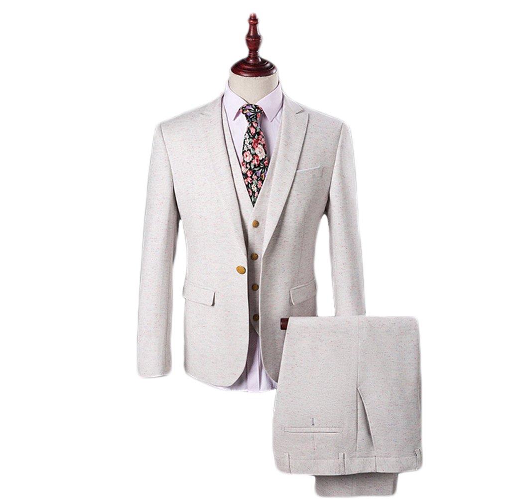 Love Dress Men's Suit 3 Piece One Button Men Wedding Party Gown 5XL